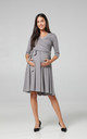 Maternity Nursing Midi Dress Steel 609 by Chelsea Clark