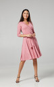 Maternity Nursing Midi Dress Dusty Pink 609 by Chelsea Clark