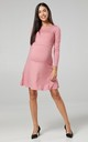 Women's Maternity Nursing Layered Skater Dress. Long Sleeves. Dusty Pink by Chelsea Clark