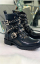 Selia Ankle Boots in Black by Larena Fashion