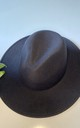 Classic large brim fedora hat in black by Kate Coleman
