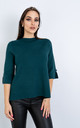 Short Sleeve Smart Jumper w/ Button Sleeve (GREEN) by Lucy Sparks