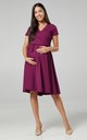 Maternity & Nursing Midi Skater Dress In Plum 598 by Chelsea Clark