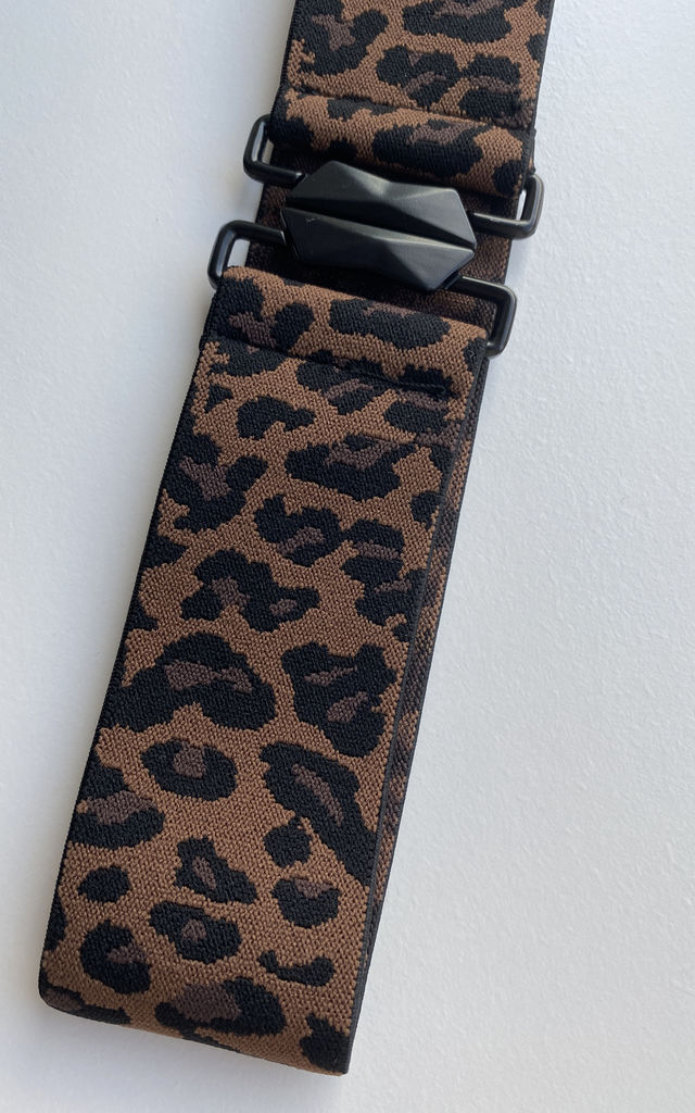 Leopard Wide Waist Belt With Black Buckle by FreeSpirits