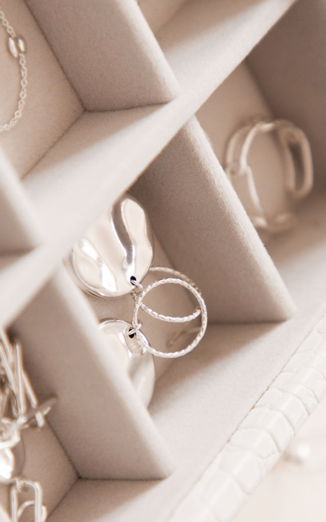LINKED CHAIN RING STERLING SILVER by Lucy Ashton Jewellery