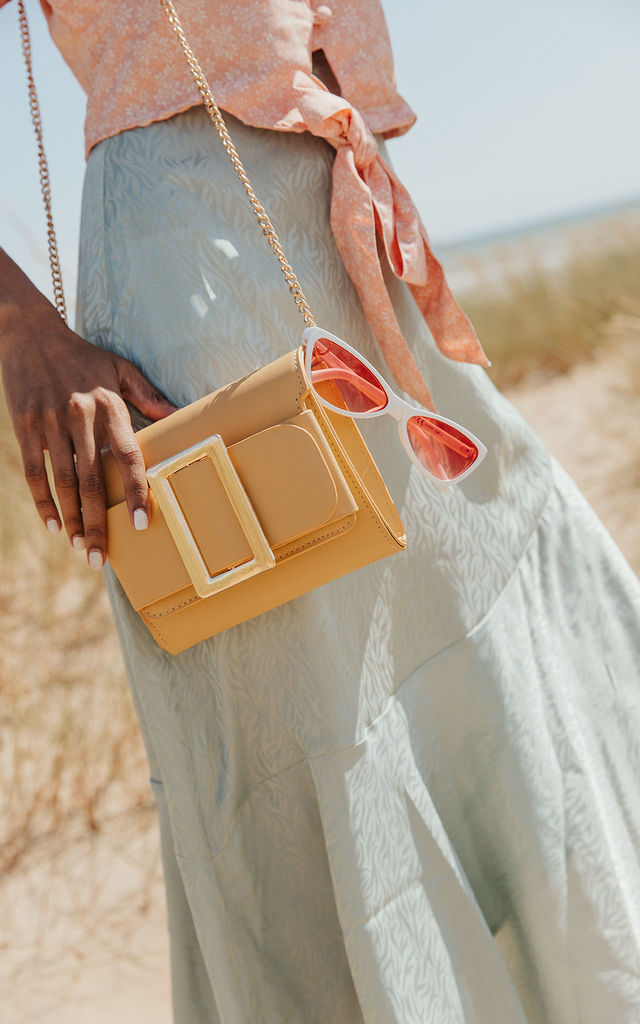 Large Buckle Clutch Bag by Sugar + Style