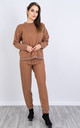 Stich Pattern Lounge Set (CAMEL) by Lucy Sparks