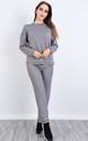 Stich Pattern Lounge Set (GREY) by Lucy Sparks
