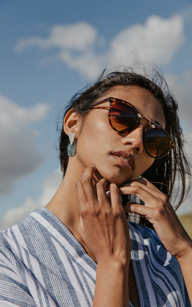Classic Acetate Aviators with Metal Top Bar Detail by Sugar + Style