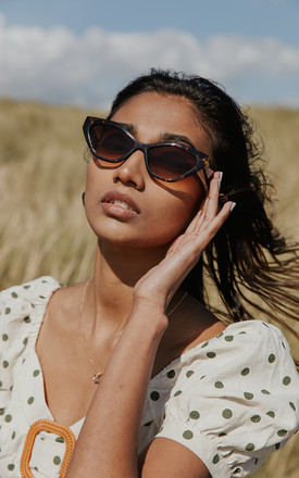Thick Diamond Frame Sunglasses by Sugar + Style