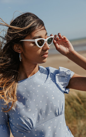 Weighted Cat Eye Sunglasses by Sugar + Style
