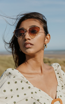 Wide Wire Cat Eye Sunglasses by Sugar + Style