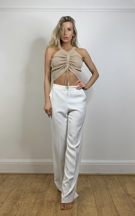 Ruched Crop Top by The Nuevo Edit