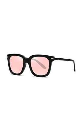 Georgie Square Sunglasses Pink by Don't Be Shady