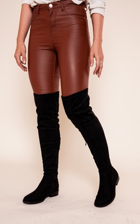 Double Lined Over Knee Suede Boots by Bond Street Shoe Company