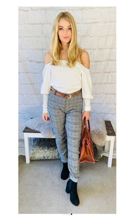 Smart Checked Trousers by Pink Lemonade Boutique