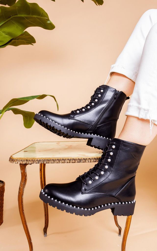 Black Pearl Ankle Boot by Bond Street Shoe Company