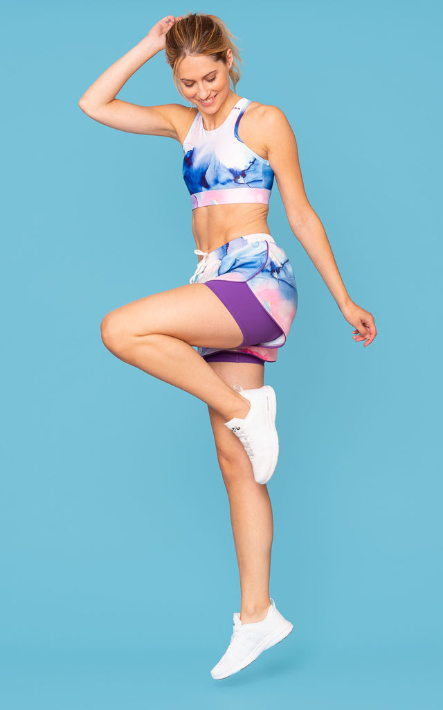 Key Sports Bra - Urban Marble by Skimmed Milk