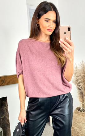 Batwing Knitted Top In Pink by JDY Product photo