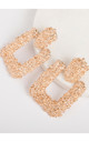 Statement Square Gold Door Knocker Textured Earrings by Always Chic