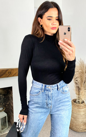 Turtle Neck Long Sleeve Top In Black by ONLY Product photo