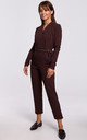 Jumpsuit with Wrap Front in Brown by MOE