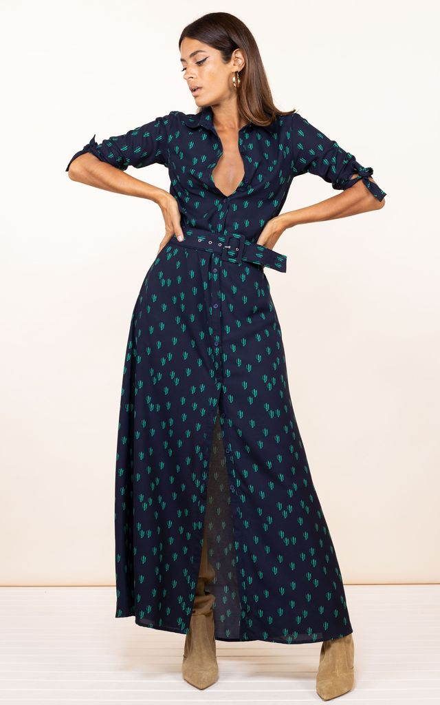 Dove Dress in Navy Cactus by Dancing Leopard