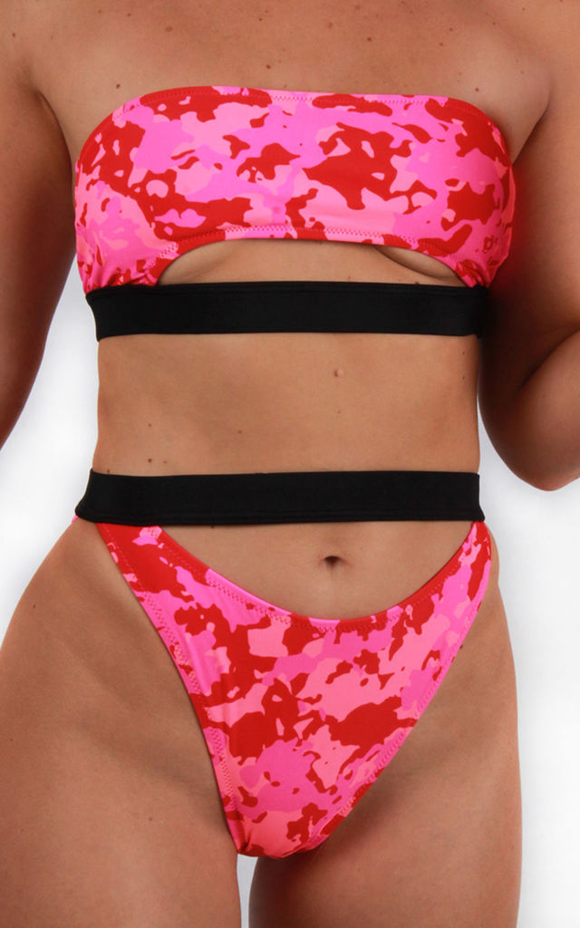 Pink Camo High Waist Bikini Brief by Candypants