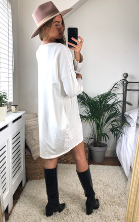Nothing To Wear Oversized Sweatshirt in White by Love