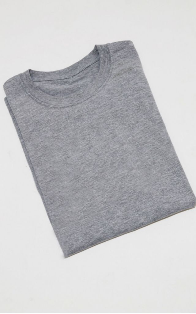 Grey oversized plain t-shirt by Unscripted