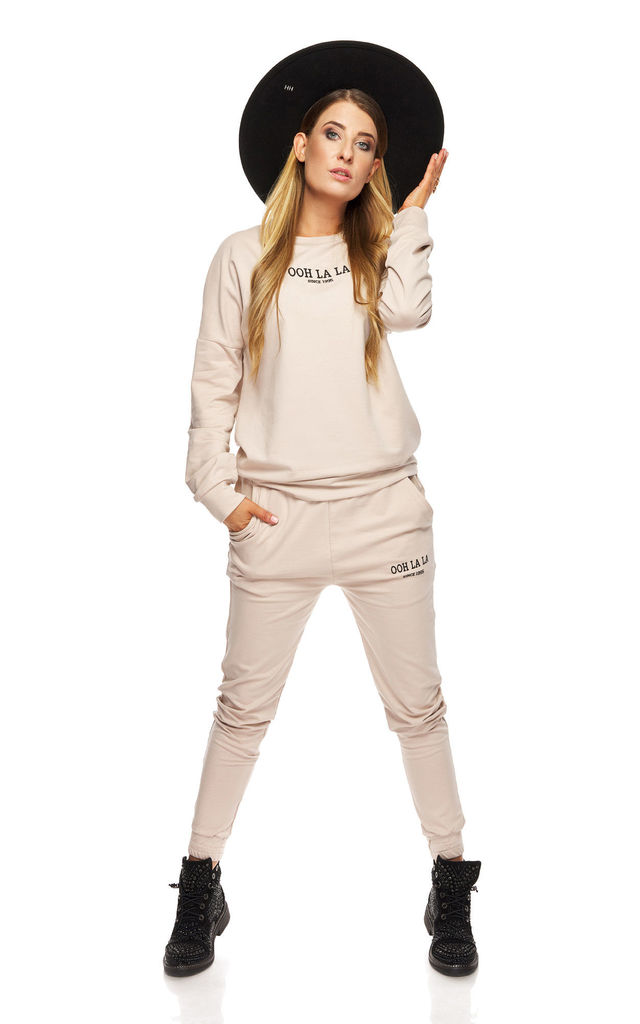 Beige Sweatshirt with Logo by By Ooh La La