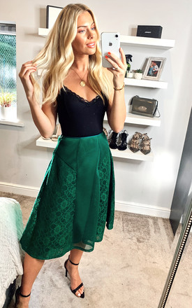 Emerald lace Midi skirt by ANGELEYE