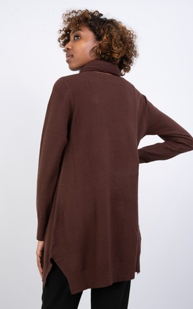 Long Sleeve Jumper with Sparkle Scarf (BROWN) by Lucy Sparks