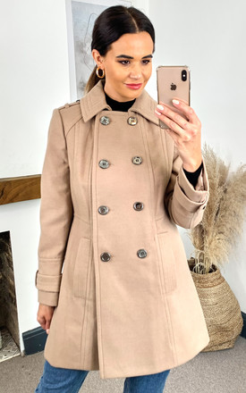 Anastasia Womens Winter Military style Camel Coat by Anastasia Fashions