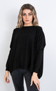 Plain Crew Neck Jumper (BLACK) by Lucy Sparks