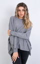 Plain Crew Neck Jumper (GREY) by Lucy Sparks