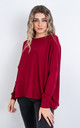 Plain Crew Neck Jumper (RED) by Lucy Sparks
