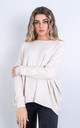 Plain Crew Neck Jumper (WHITE) by Lucy Sparks