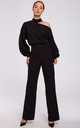 Black Jumpsuit with Cut on Shoulder by MOE