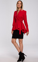 Blazer Tied at Waist in Red by MOE