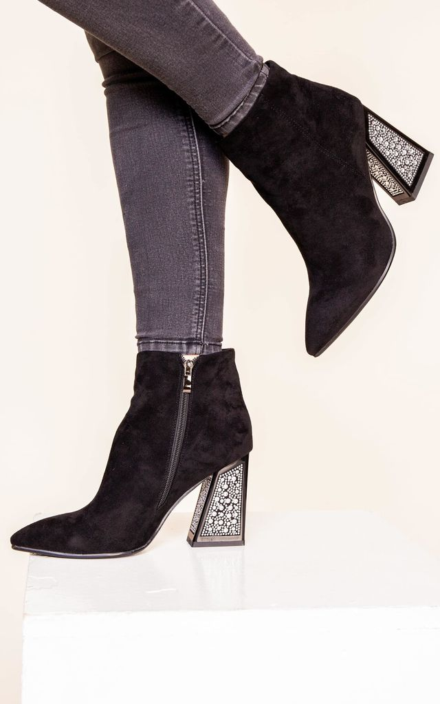 Suede Embellished Boot by Bond Street Shoe Company