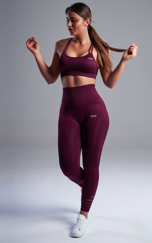 The Capella Leggings in Berry by The Gym Wear Boutique