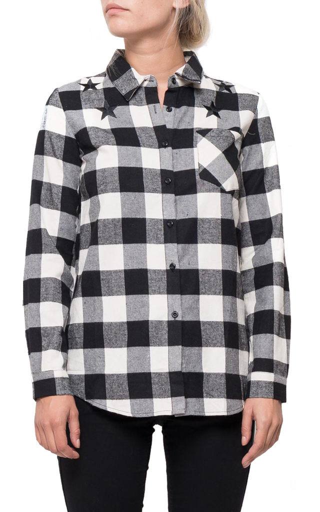 Black and White Check Shirt by Glamour Outfitters
