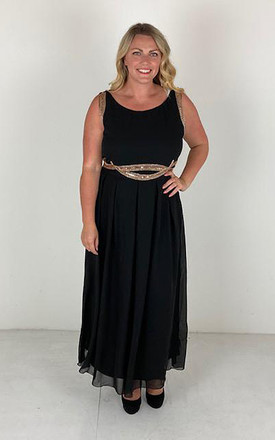 Plus size embellished maxi by Praslin