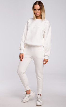 Joggers with Pockets in White by MOE