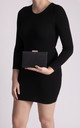 Lucia Black Diamante Box Clutch Bag by KoKo Couture
