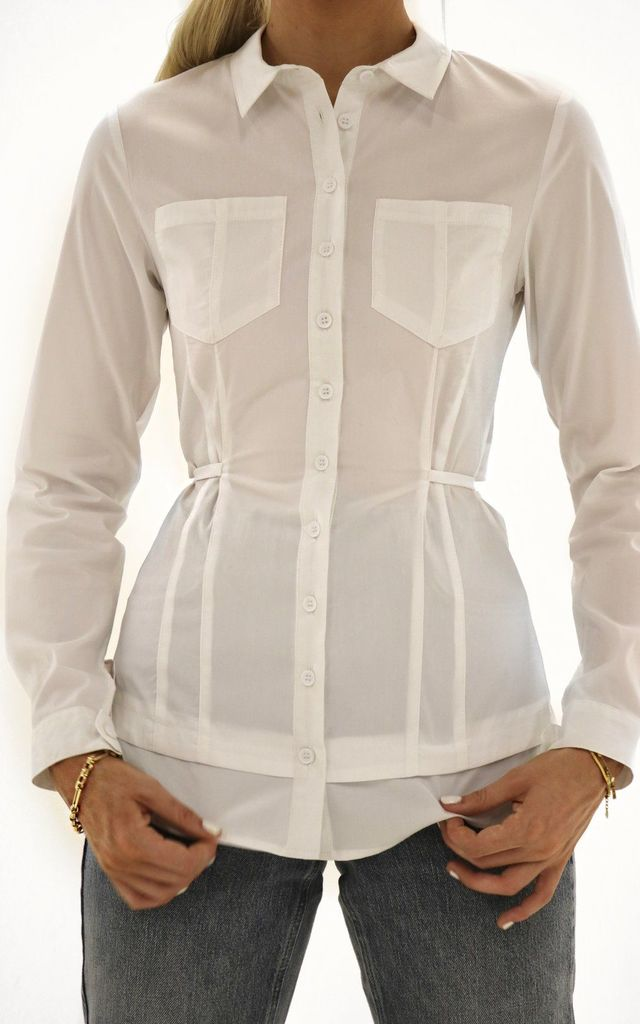 Ultimate Muse White Shirt with Back Detailing by Odd Muse