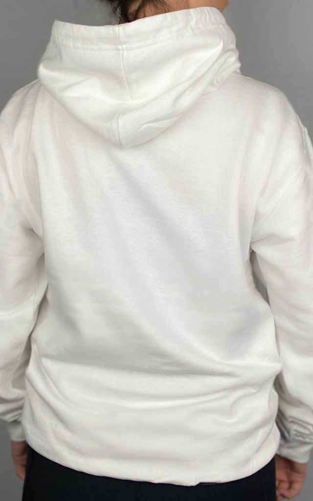 White Oversized Hoodie by The Gym Wear Boutique