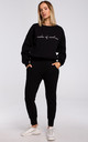 Relaxed Embroidered Sweatshirt in Black by MOE