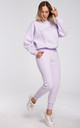 Relaxed Embroidered Sweatshirt in Powder Pink by MOE